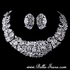 Queen Elenoire - Dramatic Cubic Zirconia necklace set - AMAZINGLY PRICED!!!