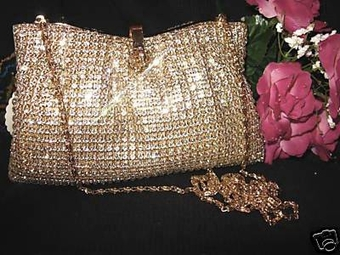 Rachel - STUNNING Gold Swarovski Crystal Purse - SPECIAL  one left