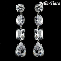 Radiance - Elegant CZ couture bridal earrings