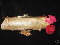 Ramona-ELEGANT Gold Swarovski Crystal Clutch/Purse-SALE!!