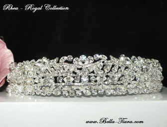 Rhea - Royal collection - Vintage Goddess Swarovski crystal tiara headband - sold out