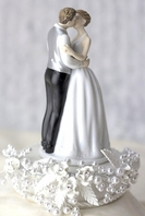 Romance rose pearl wedding cake topper - SALE