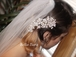 Romantic crystal and pearl bridal hair comb - SPECIAL one left