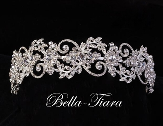 Romantic crystal vintage swirl wedding headband - SALE