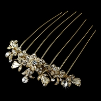 romantic gold back hair comb - SALE