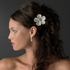 Romantic light gold rhinestone wedding hair comb