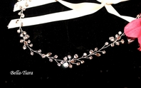 Romantic swarovski crystal wedding vine hair wrap - special