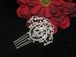 Romantica - CZ vintage inspired bridal hair comb