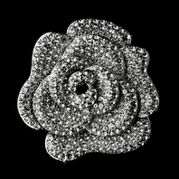Rose - Beautiful rose flower wedding brooch - SALE