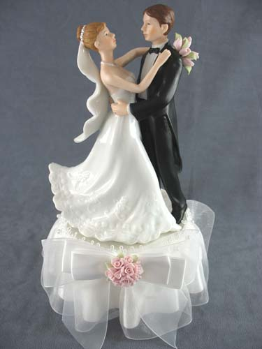 rose first dance wedding cake topper