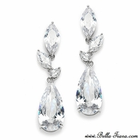 Rosine - GORGEOUS high end CZ wedding drop earrings - SALE