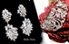 Royal - BREATHTAKING CZ drop earrings and cuff crystal bracelet -SPECIAL one set left