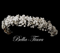 Royal collection Antique silver Swarovski crystal headband - SALE
