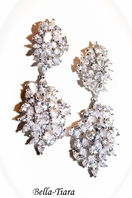 ROYAL COLLECTION - Dramatic elegance CZ wedding earrings