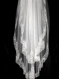 ROYAL COLLECTION -  GORGEOUS Swarovski crystal bridal veil - Custom order - SALE