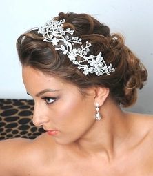 Royal Collection - Kara - Stunning swarovski crystal hair vine headpiece - SALE!!