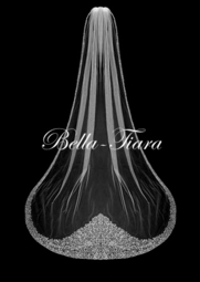 ROYAL COLLECTION-  Queenmary crystal edge cathedral wedding veil