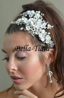 Royal Collection - Romantic floral crystal bridal hair clip