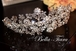 Royal collection - Swarovski crystal floral spray wedding headpiece - SALE