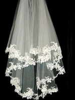 Royal Collection Valentina - High end French lace wedding veil - RENTAL