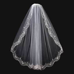 Royal Collection - Vintage beaded bridal veil - SALE