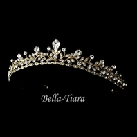 Royal princess gold wedding tiara headpiece - sale