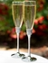 Royal roman rhinestone personalized flutes -