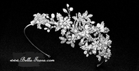 Sabrina - Italian Collection- Pearl crystal wedding headband - SPECIAL