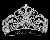 Salina - Royal Collection Swarovski crystal wedding tiara, crown