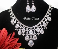 Salisha - STUNNING!! Royal crystal drop statement jewelry set  - SPECIAL one left