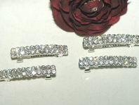 Sandra - Sparkling rhinestone hair barrette - set of 4