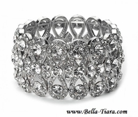 Sarah - Bold and romantic rhinestone swirl bridal bracelet - Sale!!! two left