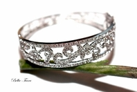 Sarasa - ELEGANT AAA CZ couture bridal cuff bangle bracelet - SALE