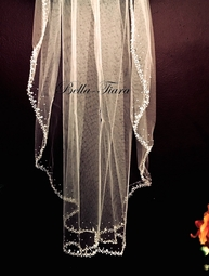 Sasha - Royal collection crystal beaded cathedral veil