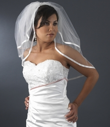 Satin Ribbon Edge bridal Veil - SALE!!