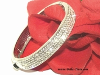 Scarlet - Couture design all around Swarovski crystal bridal Bracelet - SALE!!