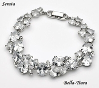 Serata - Elegant CZ wedding bracelet - SALE