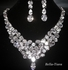 Shandra - Dramatic cz wedding statement necklace set - SPECIAL price