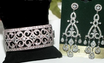 Siena Couture Cubic Zirconia vintage wedding jewelry set