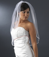 Simple elegance 1- tier satin elbow lenght veil - SALE!!!