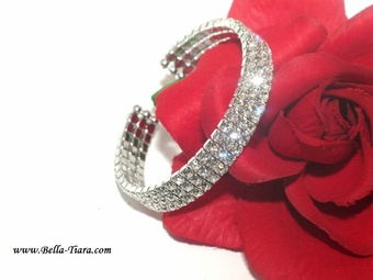 Simplify - Lovely elegant swarovski cuff prom bracelet  - 15% off use code (jewel15)
