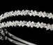 Sky - Dazzling double row rhinestone and crystal headband