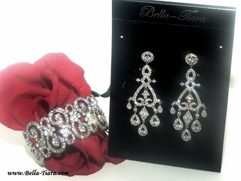 Stunning CZ vintage wedding jewelry set RENT 4999