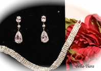Sola-Elegant cz drop bridesmaids jewelry set - SALE