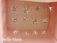 Solitaire-Simple Elegance Rhinestone Crystal Hair Pins<br>(set of 12)