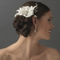Sonia-STUNNING Vintage off white beaded bridal hair flower - SPECIAL - sold