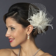 Sophisticated and elegant feather fascinator - SALE