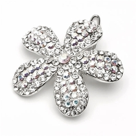 Sparkling floral hair barrette - SALE