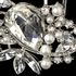 NEW!! Sparkling Silver Clear Rhinestone & White Pearl - CLEARANCE one left