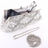 Sparkling silver beaded evening clutch purse- SPECIAL - two left